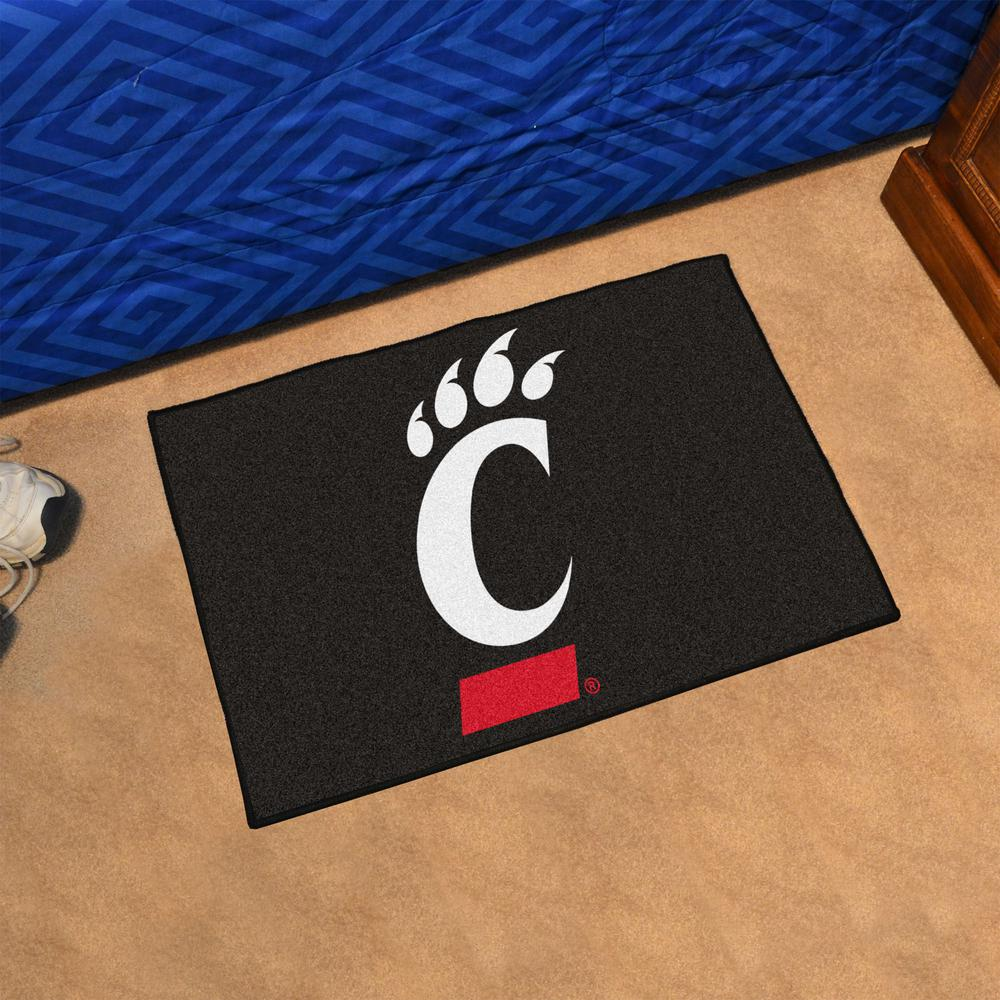 FANMATS NCAA University of Cincinnati Bearcats Vinyl 2-Pack Utility Mats
