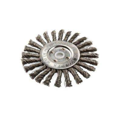 6 in. Knotted Wire Wheel Brush