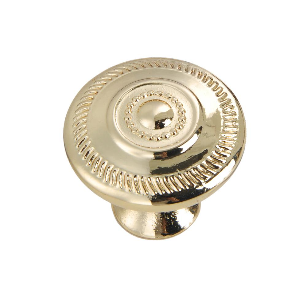 Wisdom Stone River 1-5/32 In. Polished Gold Cabinet Knob