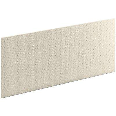 Choreograph 0.3125 in. x 60 in. x 28 in. 1-Piece Shower Wall Panel in Almond with Hex Texture
