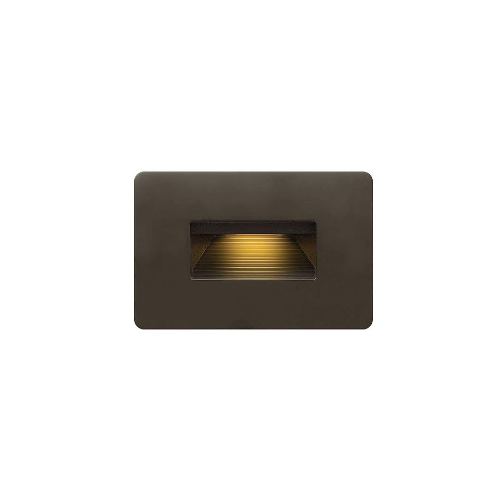 Hinkley Lighting 3 8 Watt Bronze Integrated Led 2700k Ultra Warm Luna Step Light 15508bz The Home Depot