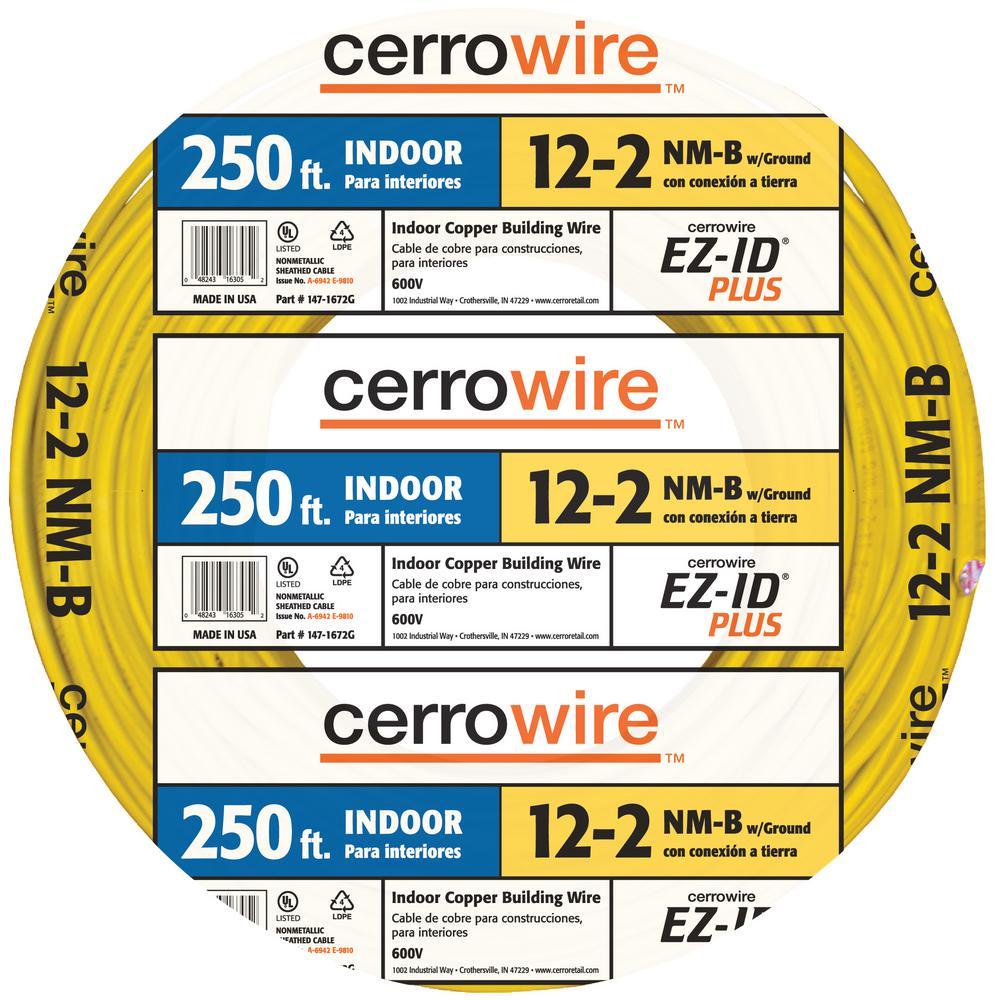 250 ft. 12/2 NM-B Wire (60 Unit per Pallet)
