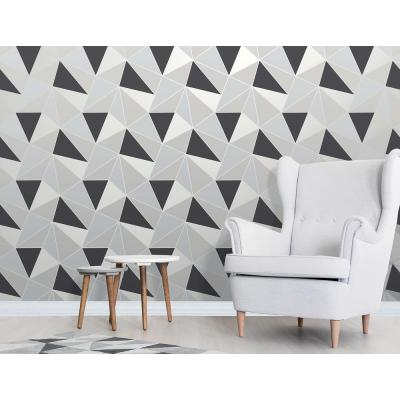 56.4 sq. ft. Arken Black Geometric Wallpaper