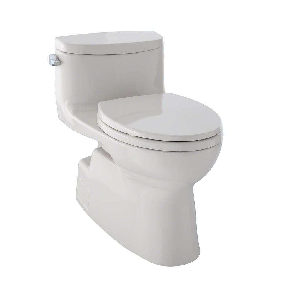 toto carolina ii 1 piece gpf single flush elongated skirted toilet with cefiontect in. Black Bedroom Furniture Sets. Home Design Ideas