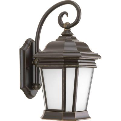 Crawford 1-Light Oil Rubbed Bronze Outdoor Medium Wall Lantern Sconce