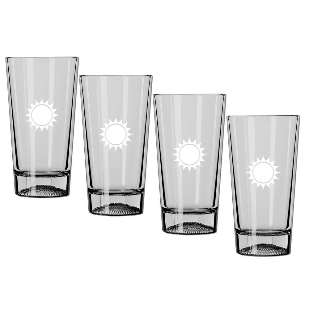Kraftware Kasualware U.S.A. 16 oz. Pint Glass (Set of 4)