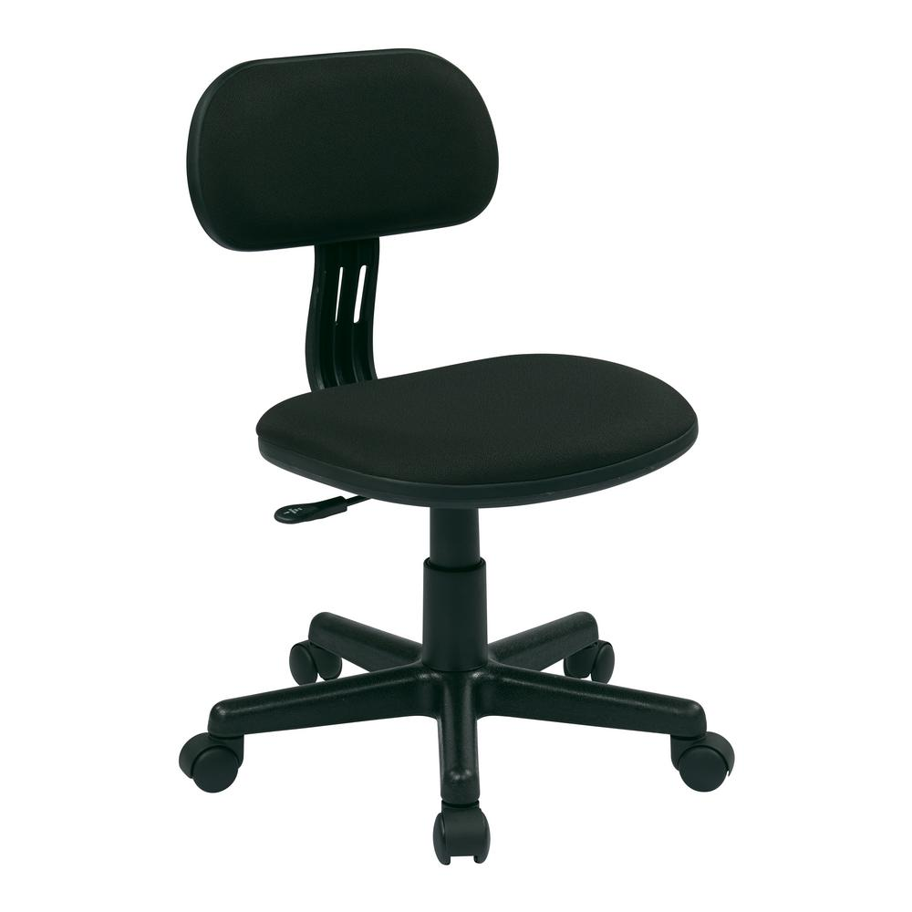 OSPdesigns Black Fabric Office Chair