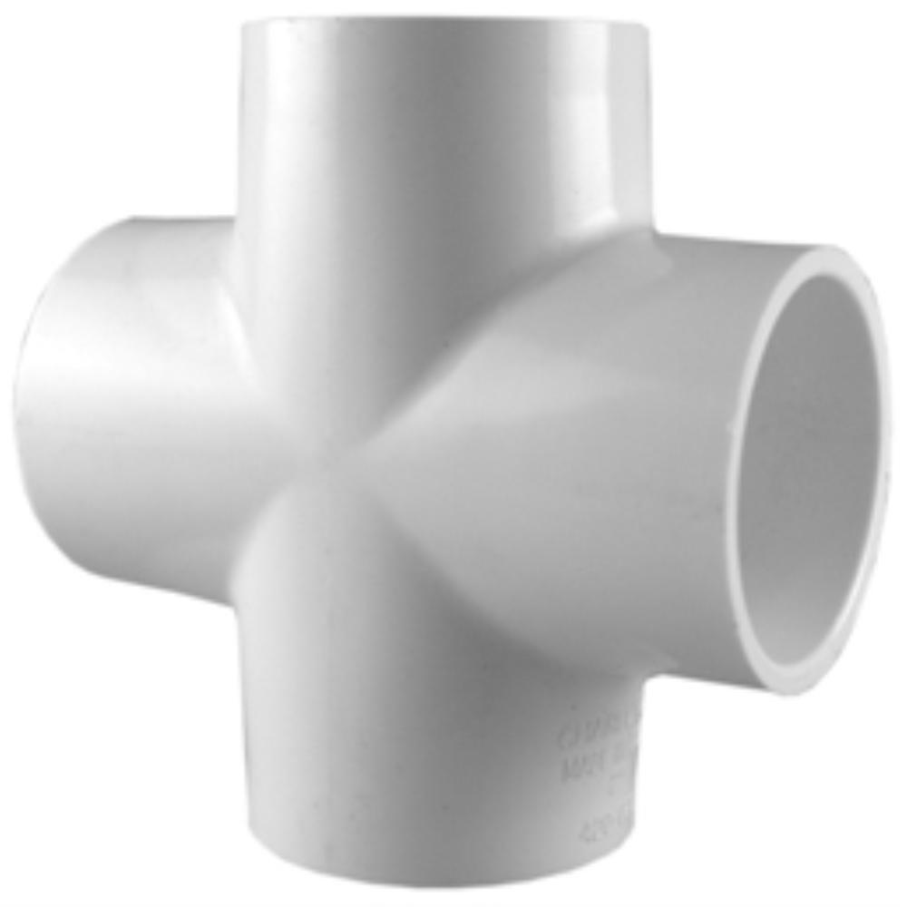 Charlotte Pipe 3/4 in. PVC Sch. 40 S x S x S x S Cross