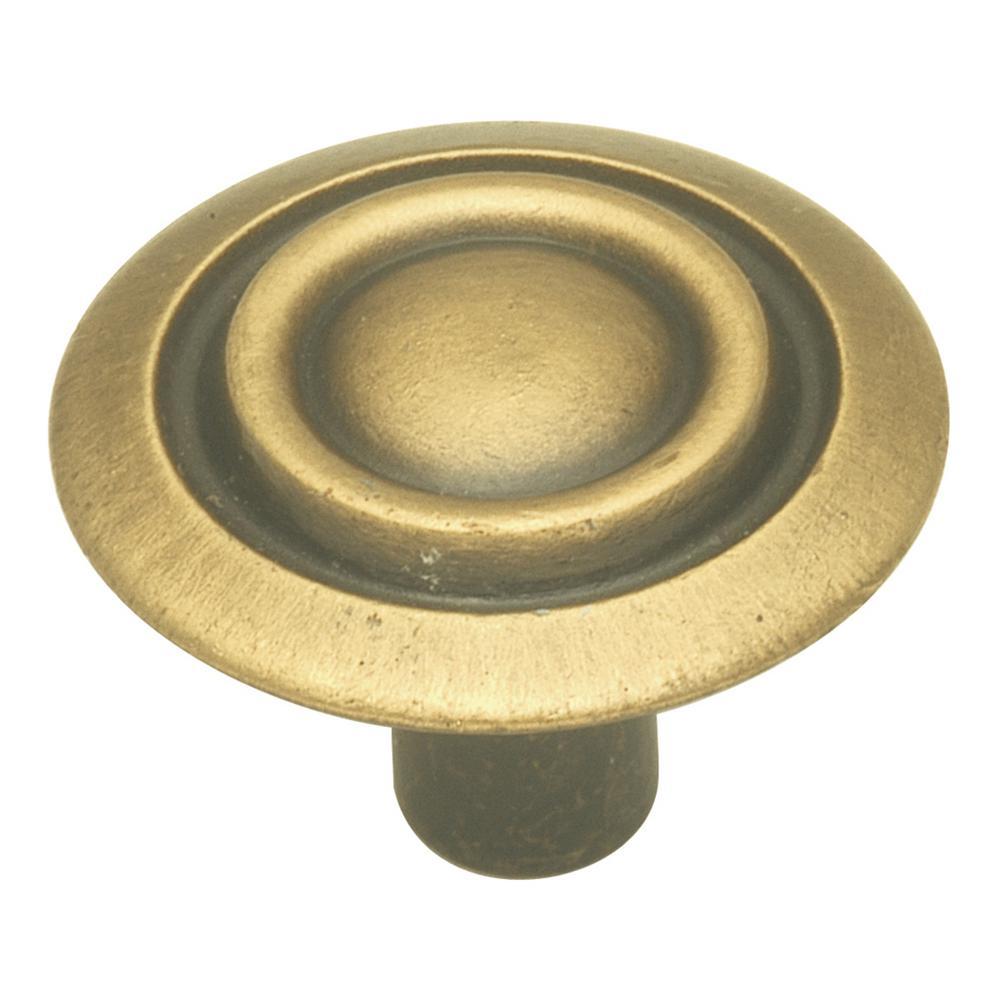 Cavalier 1-1/8 in. Antique Brass Cabinet Knob