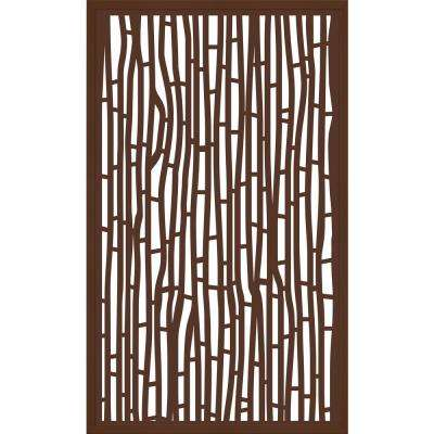 5 ft. x 3 ft. Framed Espresso Brown Decorative Composite Fence Panel featured in The Bali Design