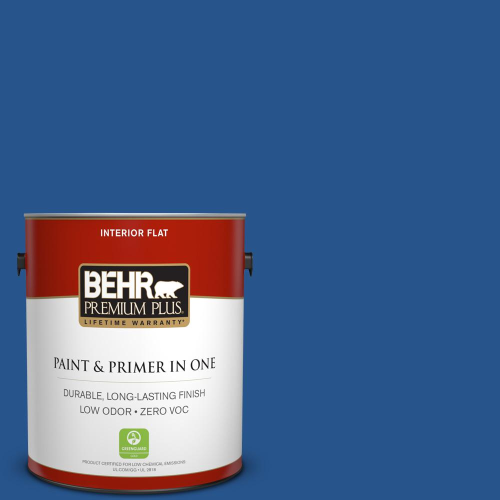 1 gal. #PPU15-03 Dark Cobalt Blue Zero VOC Flat Interior Paint