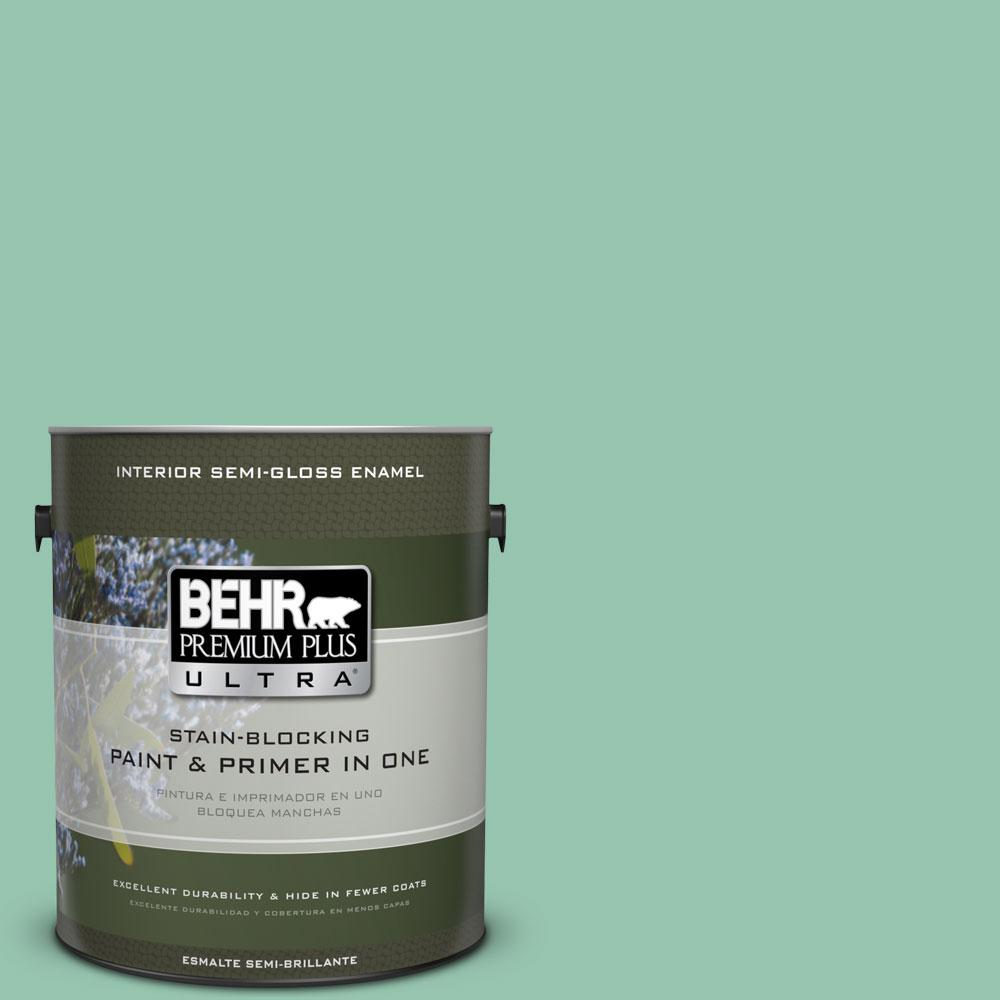 BEHR Premium Plus Ultra 1-gal. #M420-4 Jade Mountain Semi-Gloss Enamel Interior Paint