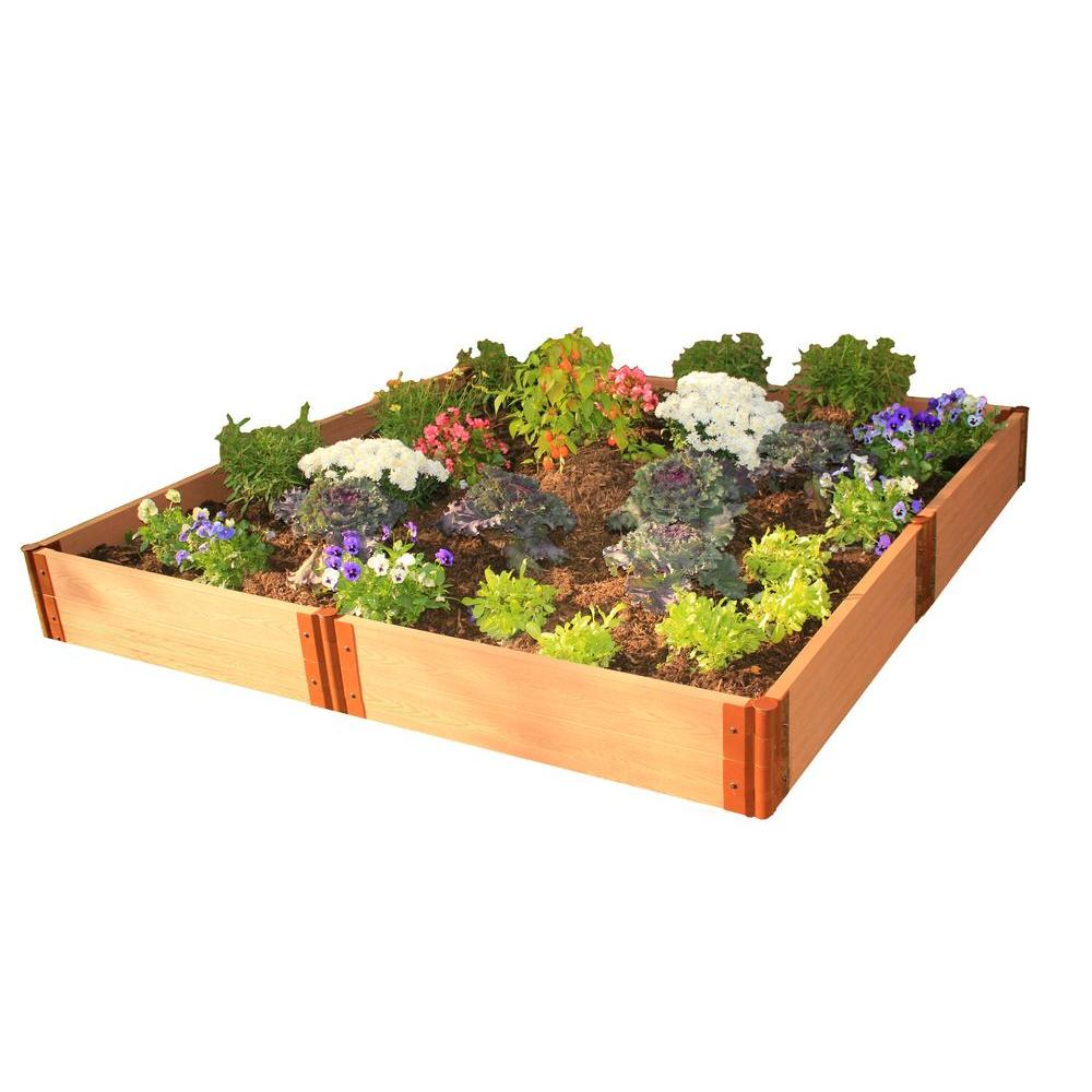 Frame It All Two Inch Series 8 ft. x 8 ft. x 11 in. Composite Raised Garden Bed Kit