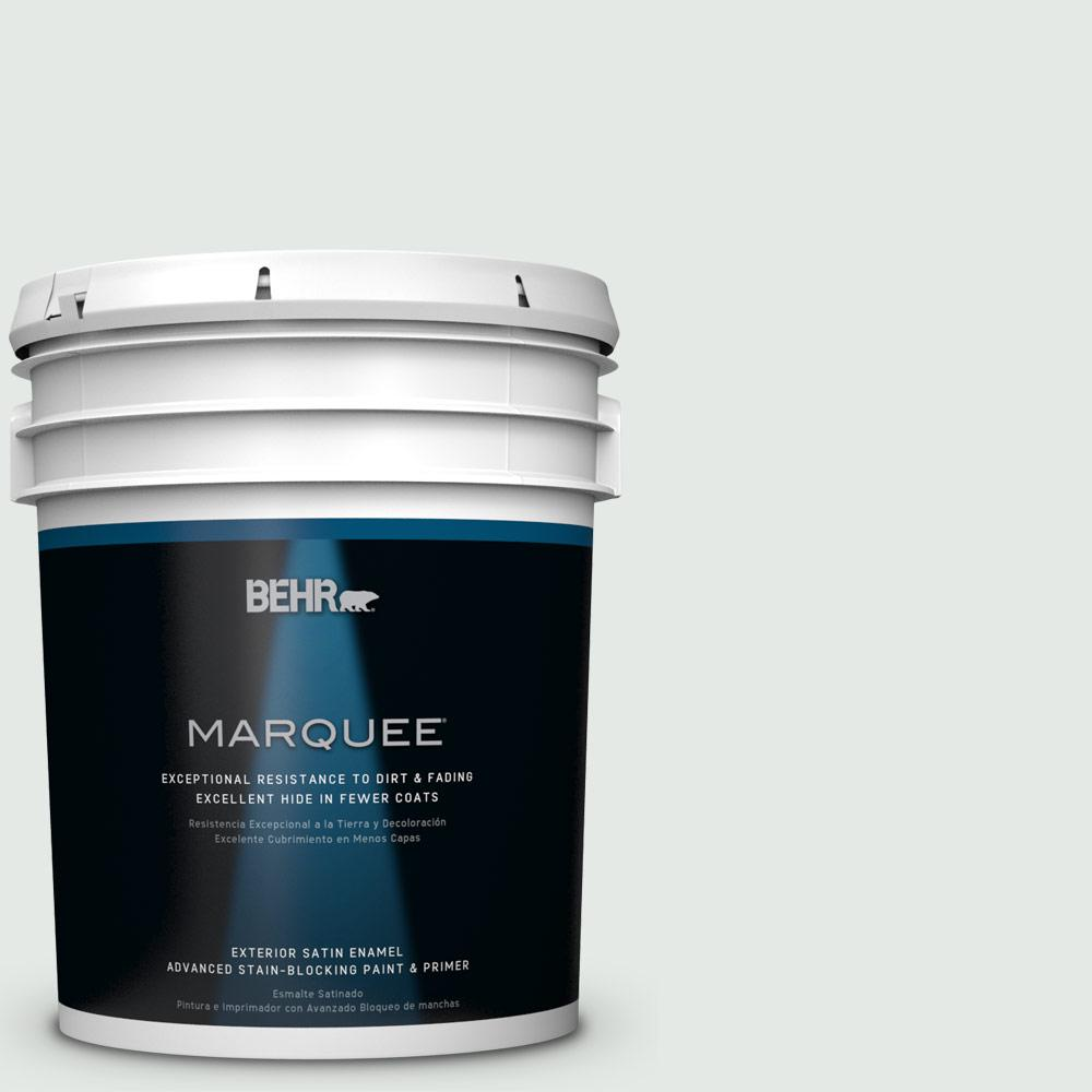 BEHR MARQUEE 5-gal. #BL-W7 Wind Chill Satin Enamel Exterior Paint