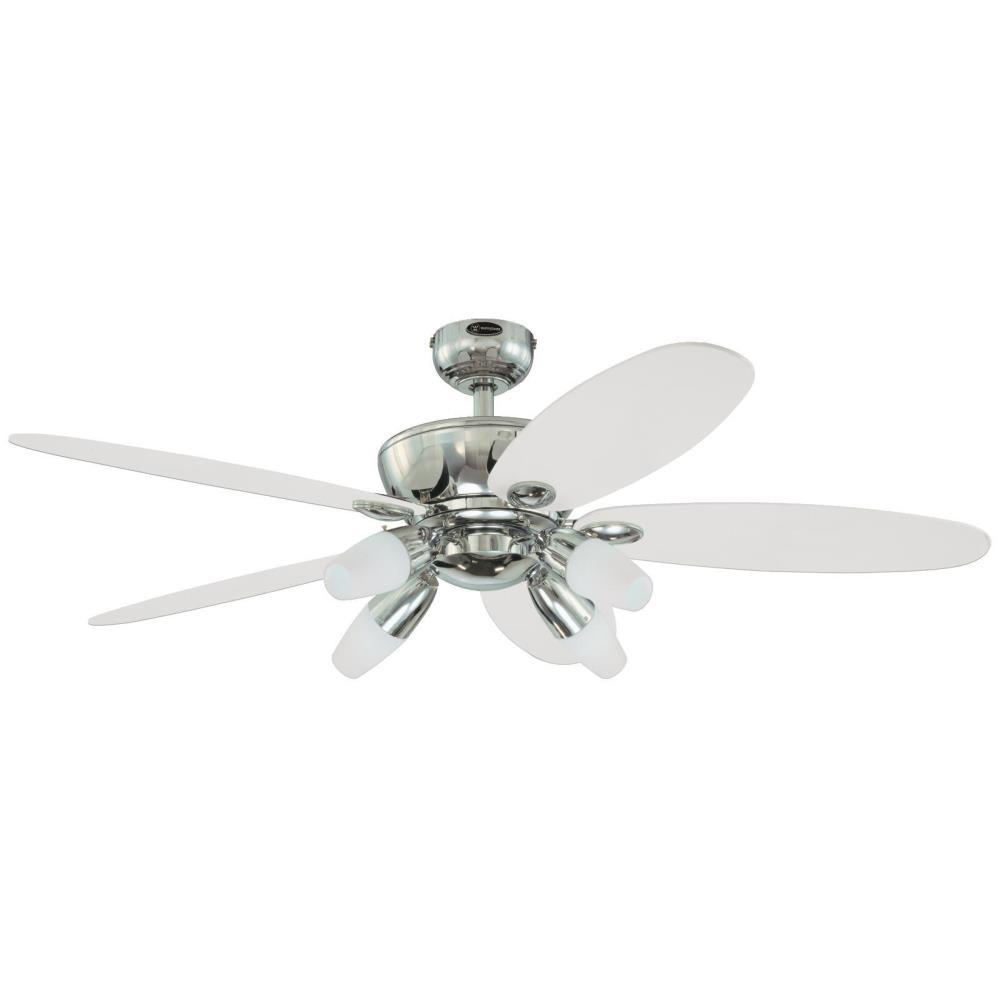 Westinghouse panorama 52 in chrome ceiling fan 7255900 the home chrome ceiling fan 7255900 the home depot mozeypictures Gallery