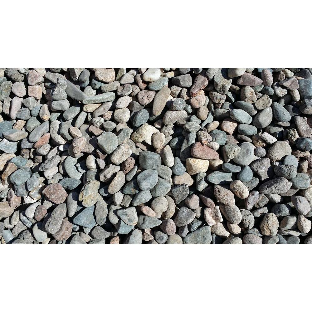 Vigoro 0 5 cu ft pond pebbles r3rrl the home depot for Smooth landscaping rocks