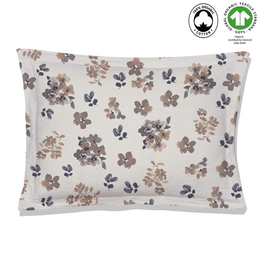 Madras Reversible Print Multi-Color 100% Organic Cotton Queen Sham (Set of 2)