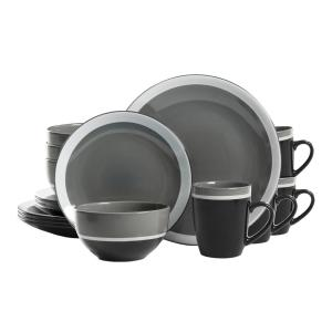 Click here to buy Gibson Color Eclipse 16-Piece Gray Dinnerware Set by Gibson.