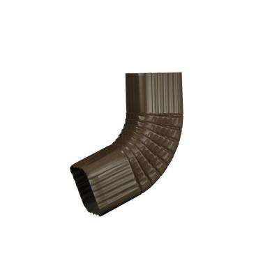3 in. x 4 in. Terra Bronze Aluminum Downspout B Elbow