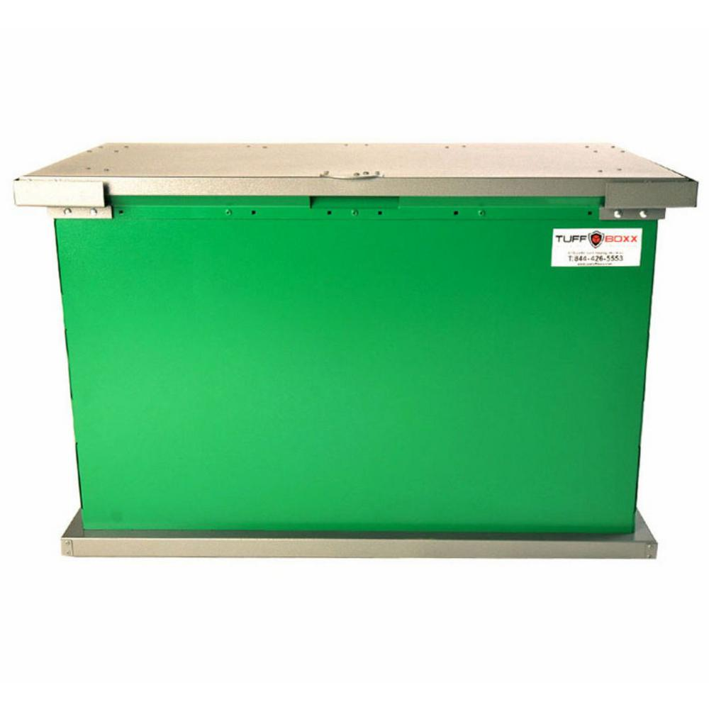 GRIZZLY 149 Gal. Green Galvanized Metal Animal Resistant Storage Container
