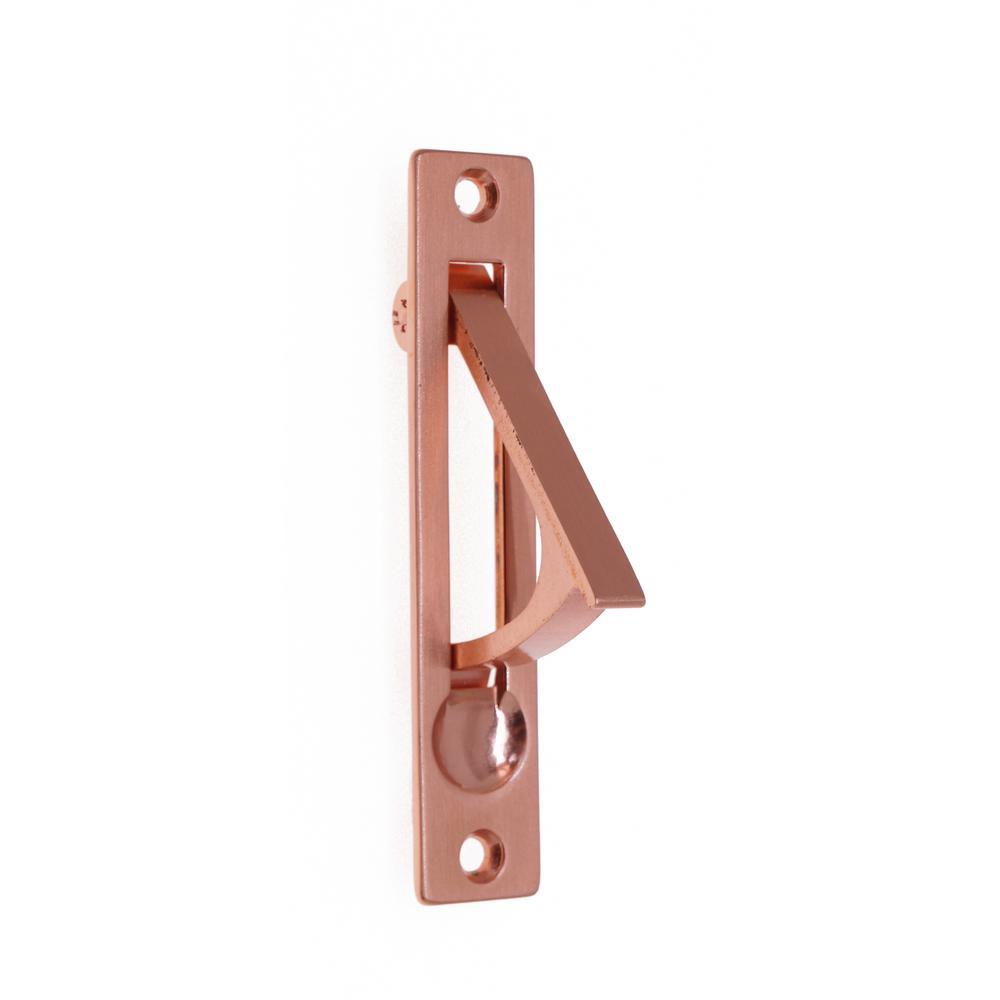 4 in. Solid Brass Edge Pull in Bright Copper
