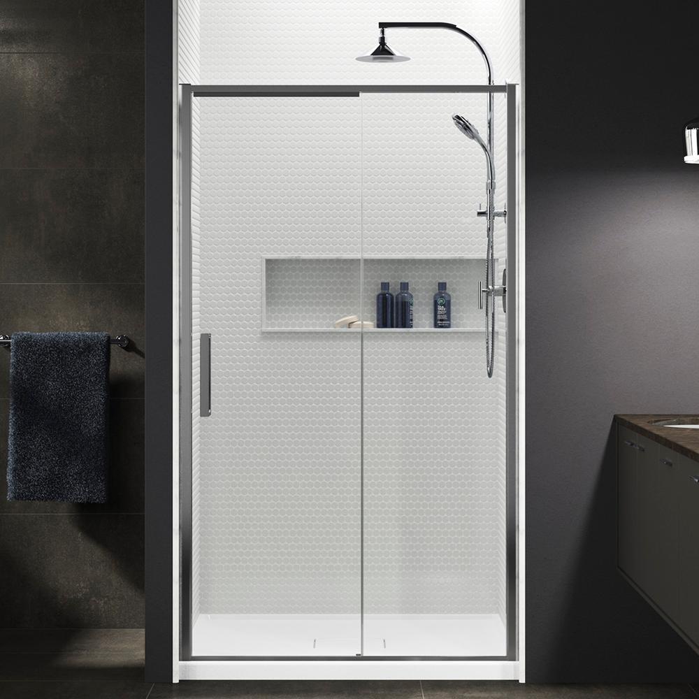 Kohler Torsion 48 In W X 76875 In H Frameless Sliding Shower Door