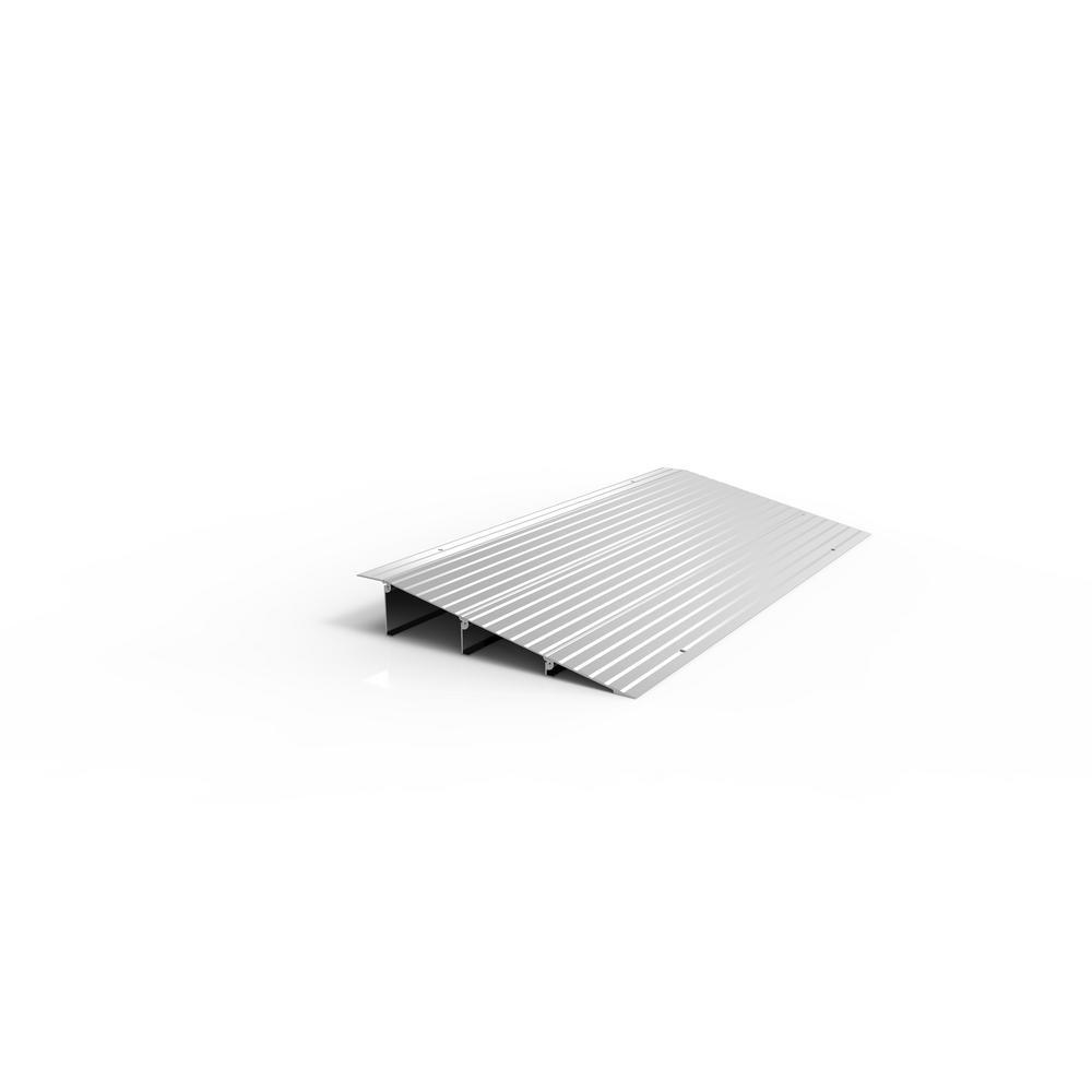 EZ-ACCESS TRANSITIONS Aluminum Threshold Ramp 17 in. L x 34 in. W x 3 in. H
