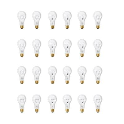 200-Watt High Lumen Clear A21 Medium E26 Soft White (2700K) Utility Incandescent Light Bulb (24-Pack)