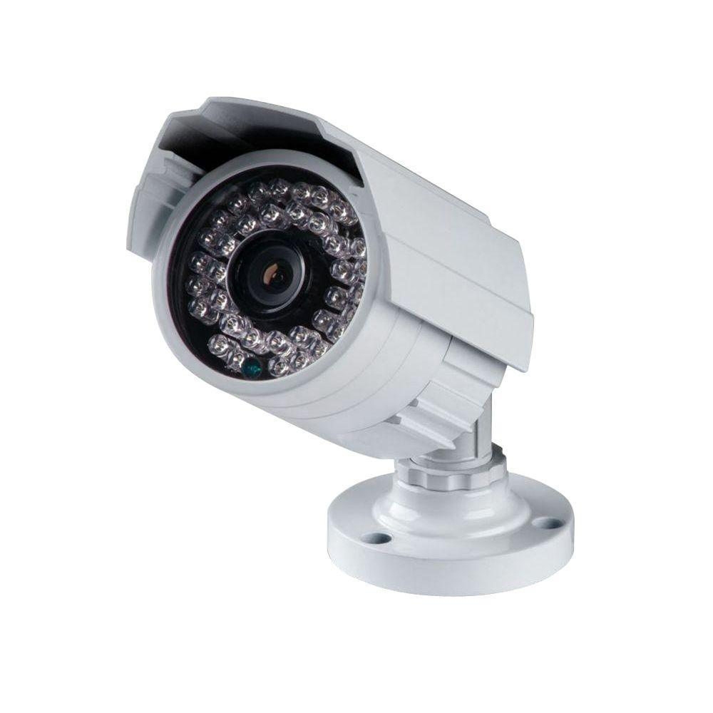 SeqCam Wired Indoor/Outdoor Weatherproof IR Color Security Camera ...
