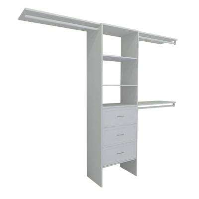 Selectives 83 in. H x 120 in. W x 14.57 in. D Basic Plus Closet System in White