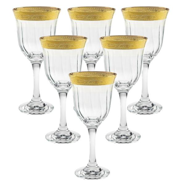 Melania Collection Gold Red Wine (Set of 6)