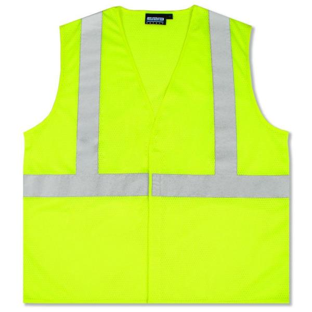 S362 5X Class 2 Economy Poly Mesh Hi Viz Lime Vest