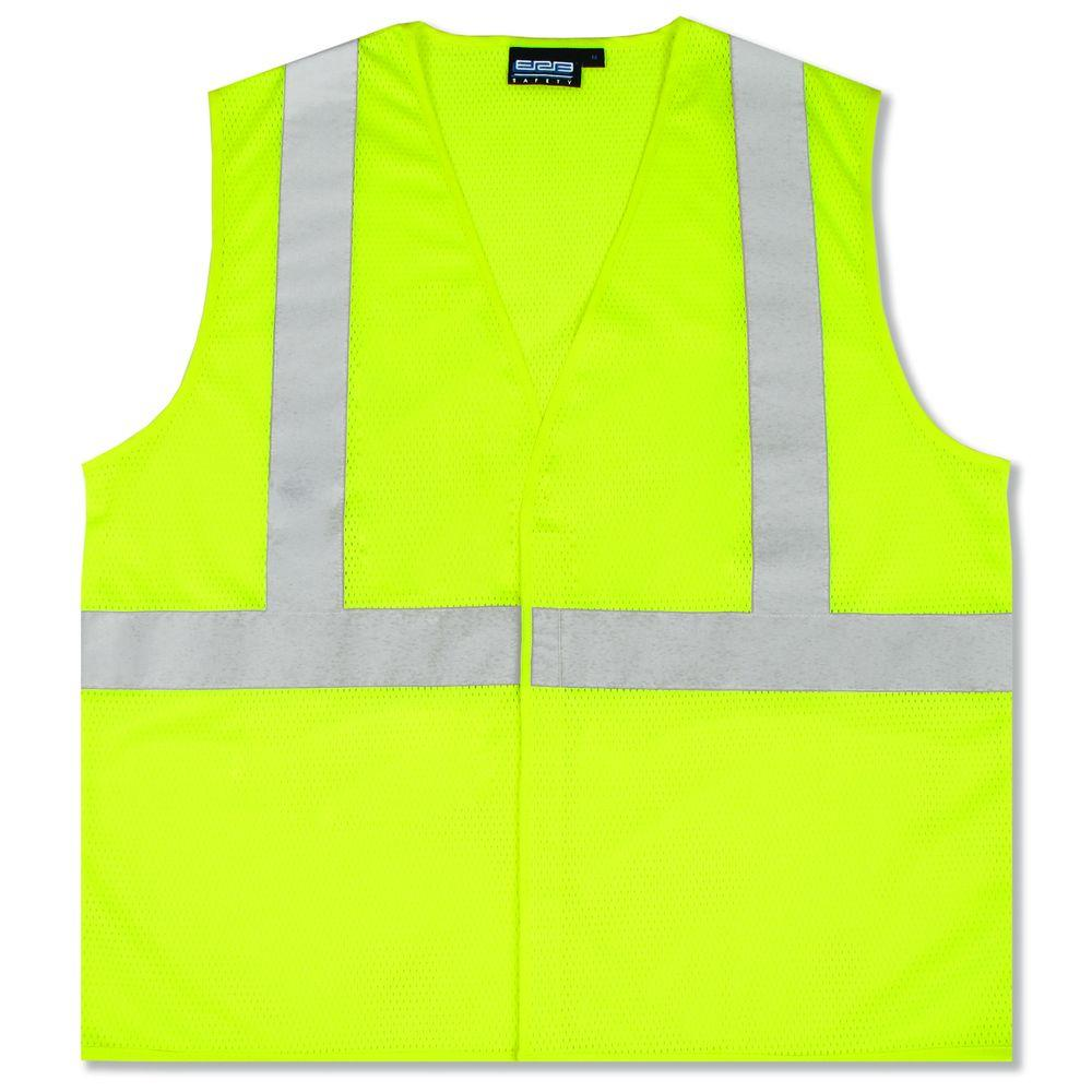 S362 3X Class 2 Economy Poly Mesh Hi Viz Lime Vest