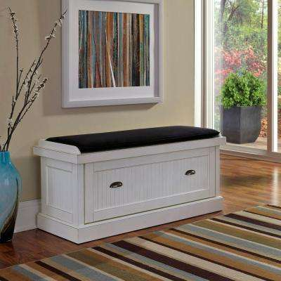 Nantucket Distressed White Bench