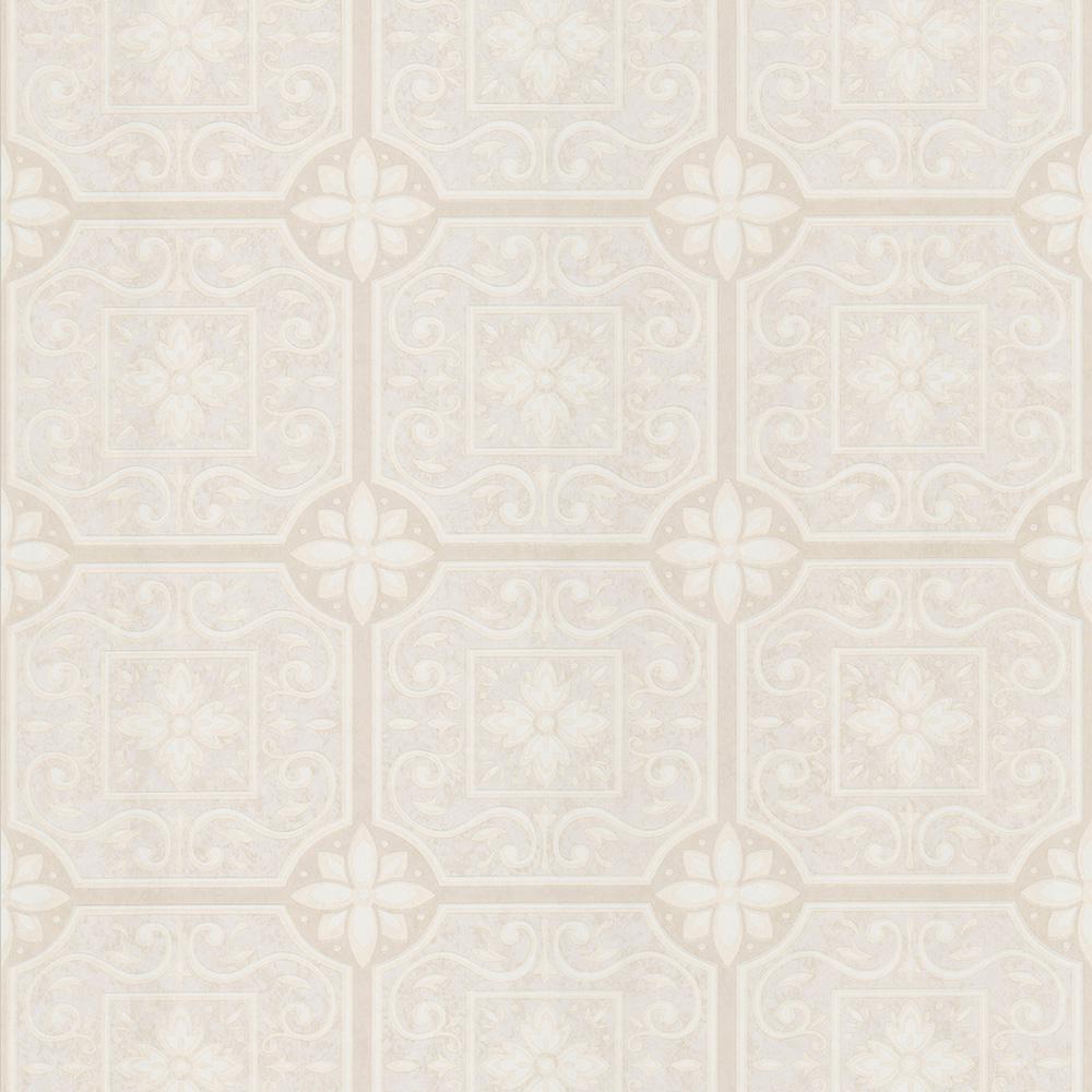 Brewster lindsey beige country floral wallpaper sample 436 for Wallpaper samples