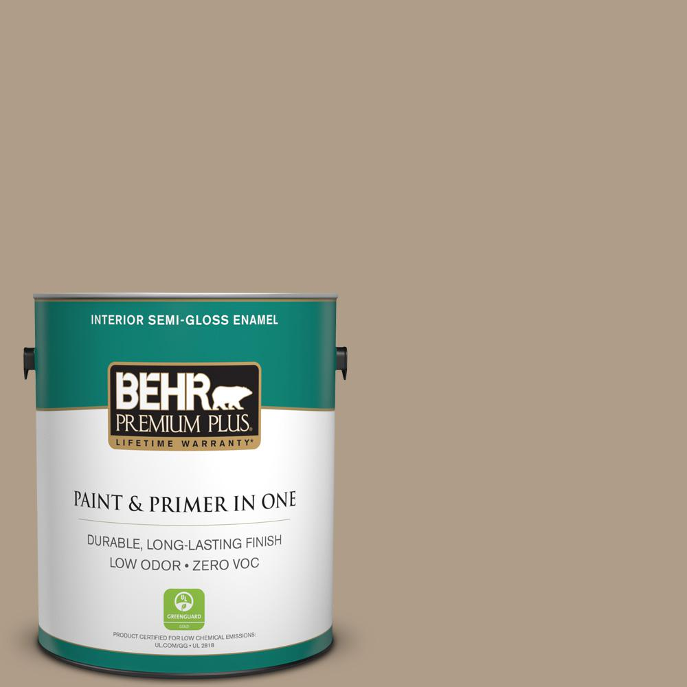 1-gal. #BNC-14 Over the Taupe Semi-Gloss Enamel Interior Paint