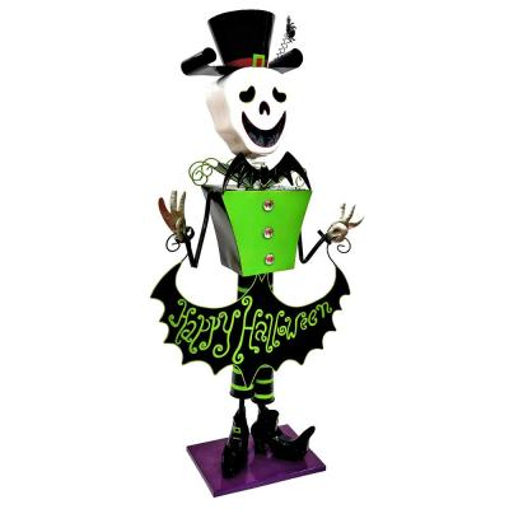 52.5 in. Iron Skeleton Halloween Yard Decoration