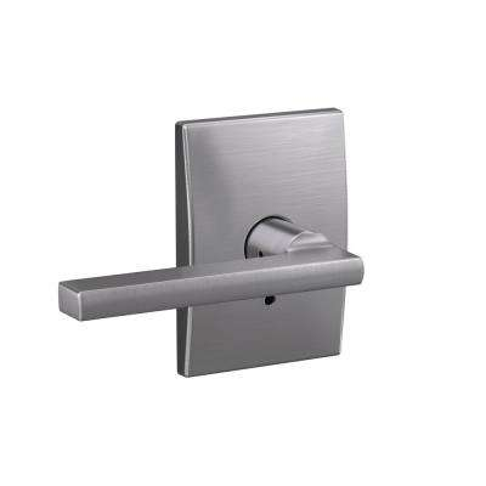 Custom Latitude Satin Chrome Century Trim Combined Interior Door Lever