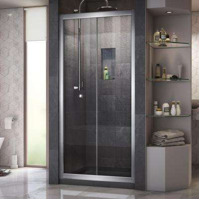 Butterfly 34 in. to 35-1/2 in. x 72 in. Framed Bi-Fold Shower Door in Chrome
