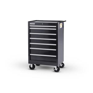 International Tech Series 27 inch 7-Drawer Roller Cabinet Tool Chest Black by International