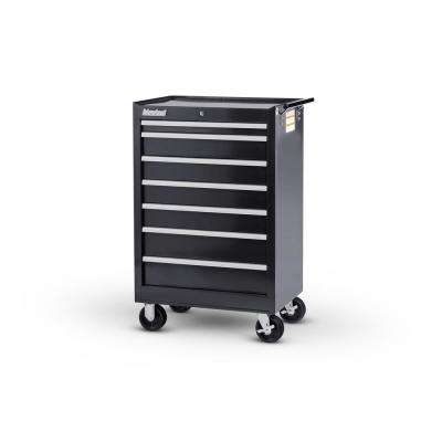7 Drawer Roller Cabinet Tool Chest Black