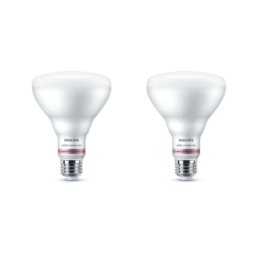 Philips Tunable White BR30 LED 65-Watt Equivalent Dimmable Smart Wi-Fi Wiz Connected Wireless Light Bulb (2-Pack)