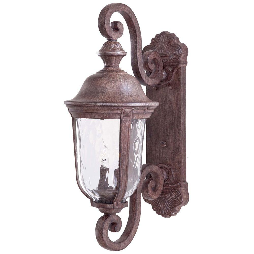 The great outdoors by minka lavery ardmore 2 light vintage rust the great outdoors by minka lavery ardmore 2 light vintage rust outdoor wall mount lantern 8991 61 the home depot audiocablefo