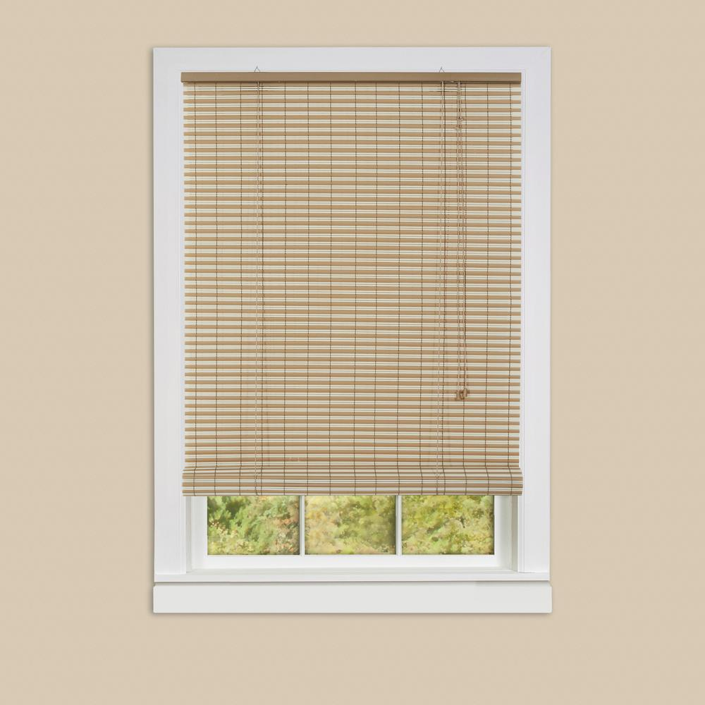 Ashland Desert Almond Roll-Up 0.25 in. Vinyl Blind - 48 in.