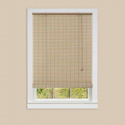 Ashland Desert Almond Roll-Up 0.25 in. Vinyl Blind - 72 in. W x 72 in. L