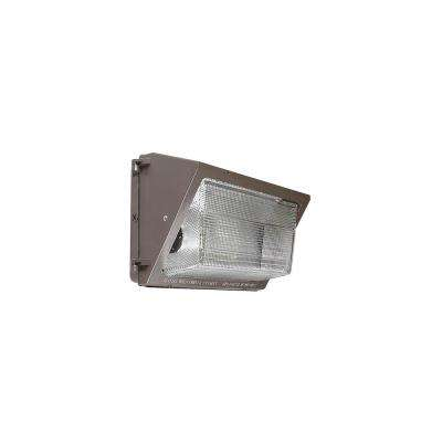 Hid Wall Pack 1-Light Bronze Outdoor Wall Sconce