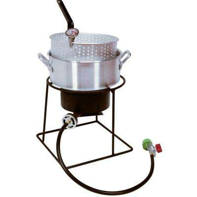 54,000 BTU Welded Portable Propane Gas Outdoor Cooker with Aluminum Fry Pan