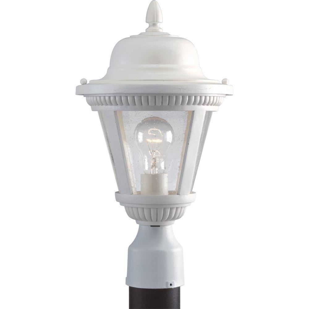 Westport Collection 1-Light White Outdoor Post Lantern