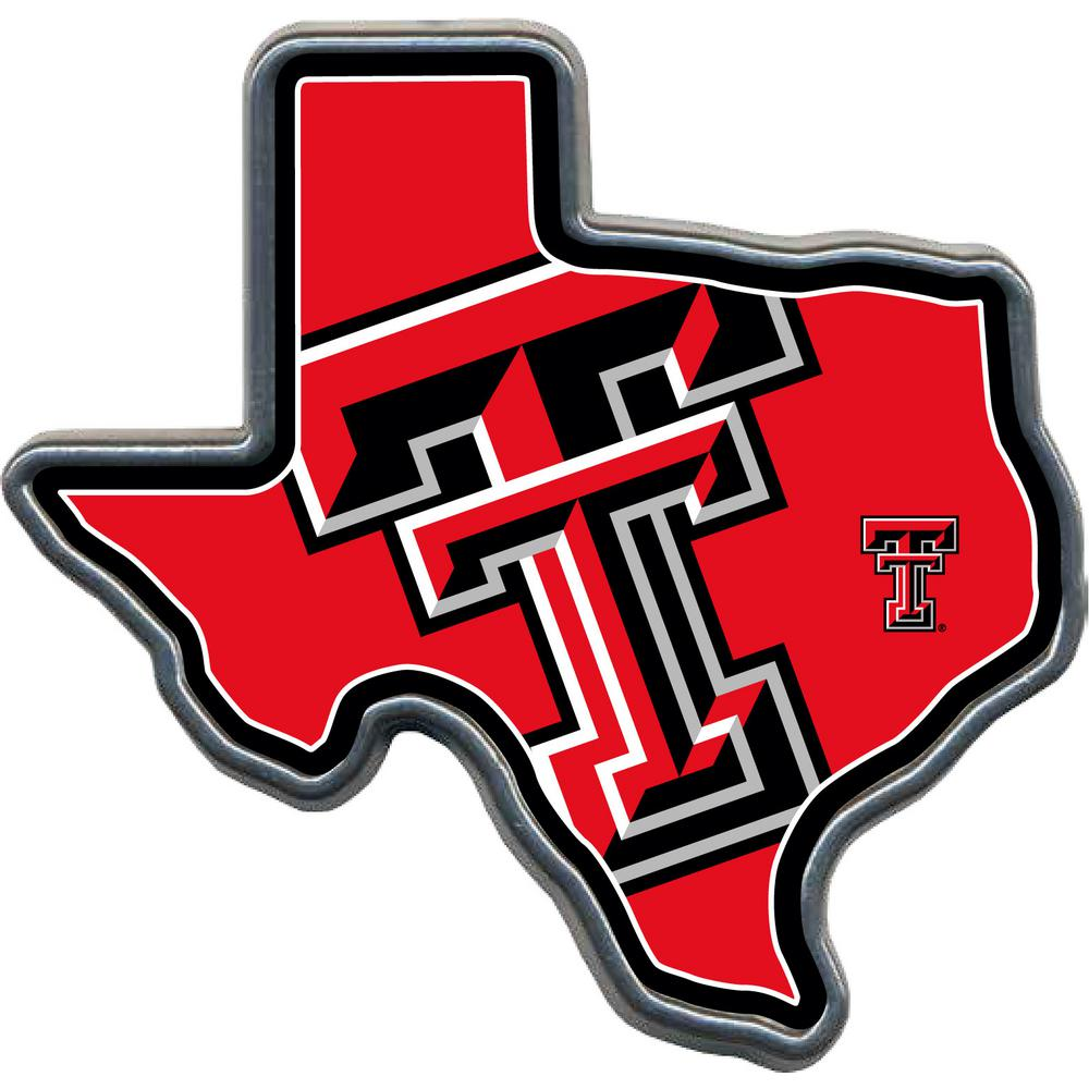 Great American Products Texas Tech Texas Shaped Hitch Cover Htcc2362