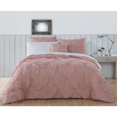 Bradford Pintuck BIAB 8-Piece Rose Cloud Queen Comforter 14-1313 TPX